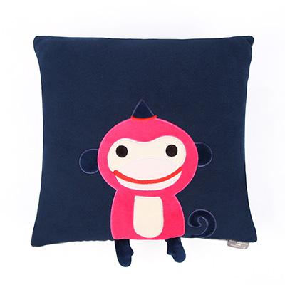 Yvonne Collection猴子45x45cm方形抱枕-丈青