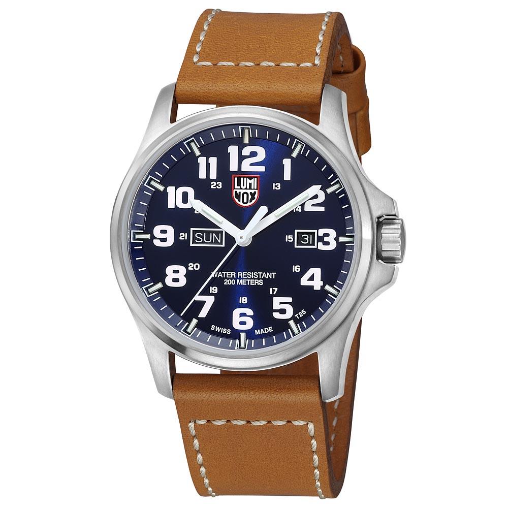 LUMINOX 雷明時戰場系列藍寶鏡面腕錶-藍x白時標/45mm