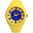 Lotus 撞色潮流 立體指針休閒女錶(TP2132L-07)-黃/37mm