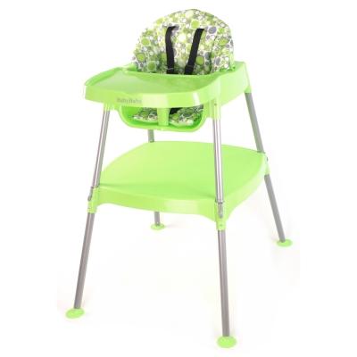 BabyBabe 多功能兒童餐桌椅-田園綠