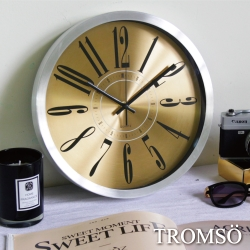 TROMSO風尚義大利金屬時鐘-金色簡約