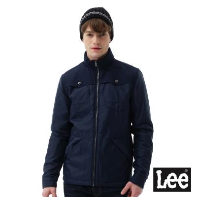 Lee 連帽可收式舖棉外套RG-男款-藍色