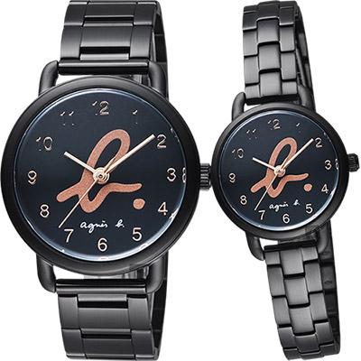 agnes b. 巴黎城市限定對錶(BG8040X1+BH8043X1)