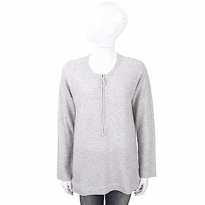 ALLUDE 喀什米爾衫灰色拉鍊細節針織羊毛衫
