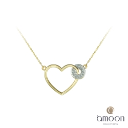 amoon 法式18K金系列 穿越愛 18K金鑽石項鍊