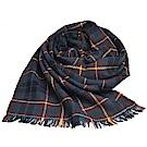RALPH LAUREN POLO 小馬刺繡LOGO蘇格蘭格配羊毛披肩/圍巾(咖啡格)