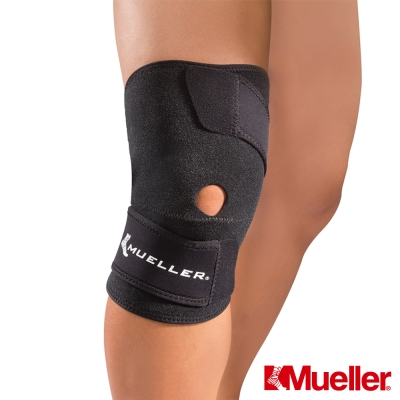 【MUELLER】輕薄舒適 可調式膝關節護具 黑色(MUA53457)