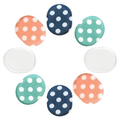 任選-足的美形 彩點系列-布面矽膠圓點貼(1包)