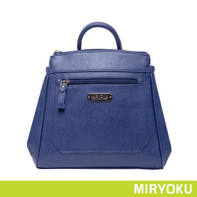 MIRYOKU質感斜紋系列-時髦簡潔2WAY後背包