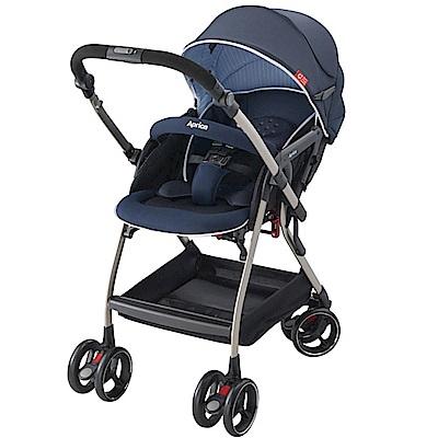 Aprica Optia 新視野 四輪自動定位導向型嬰幼兒手推車(優雅藍)