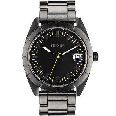 NIXON The Rover SS II 強眼時尚腕錶-黑x鐵灰/42mm