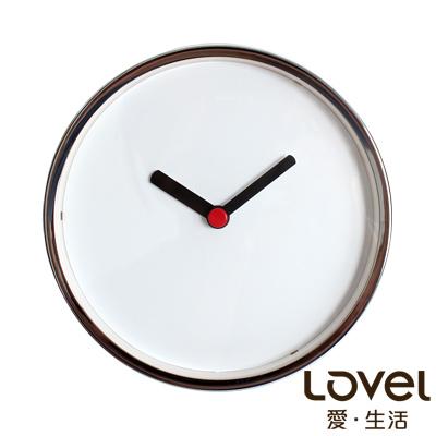 LOVEL 16cm 摩登復古金屬框靜音時鐘-共3款