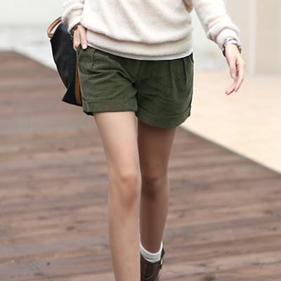 【N.C21】立體打摺百搭燈芯絨休閒褲 (共四色)