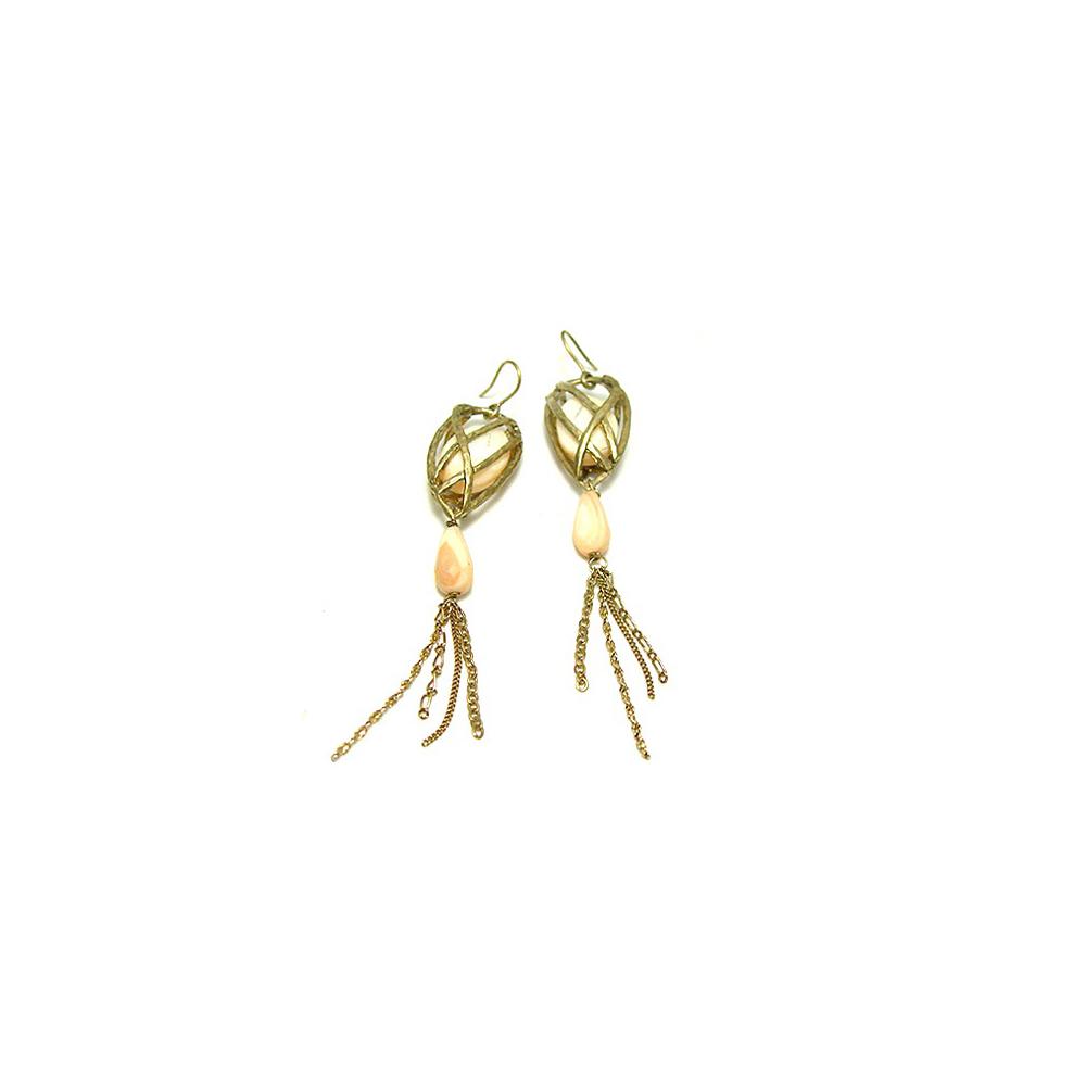 KENNETH COLE 思念深鎖雅致耳環(長型9.7cm)