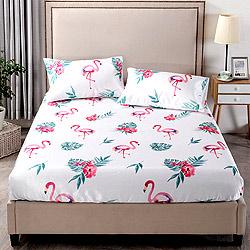 Grace Life 熱帶雨林 單人可水洗涼感絲床包兩件組