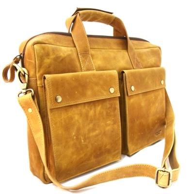 CALTAN - 男女用真皮公事包 手提包 肩背包 兩用包-5206ht