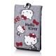 Hello Kitty牛津布手機包-蝴蝶結灰