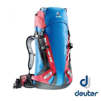 【德國 Deuter】Guide 35L+ 輕量攀峰登山背包35L+8L_藍/紅