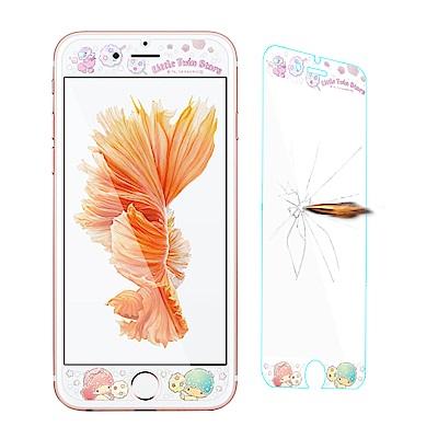 三麗鷗 iPhone 8 / 7 /6s Plus 全隱形玻璃保護貼(棉花糖雙子...