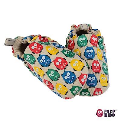 英國 POCONIDO 純手工柔軟嬰兒鞋 (經典貓頭鷹LOGO款)
