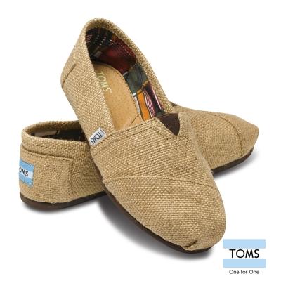 TOMS 亞麻布懶人鞋-女款