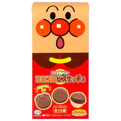 不二家麵包超人圓形餅乾巧克力34g