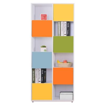 AT HOME-芬妮2.7尺彩色6單門書櫃-右