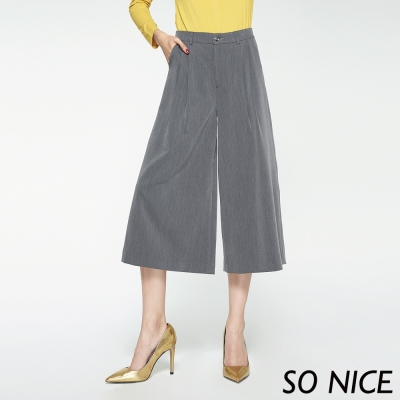 SO NICE都會時尚簡約寬褲