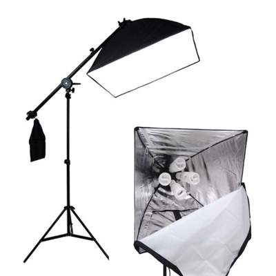 快裝式柔光罩50x70柔光箱無影四聯攝影頂燈組