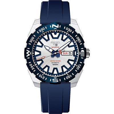 SEIKO 富士山限定版精工5號盾牌機械錶(SRP783J1)-藍/45mm