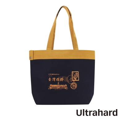 Ultrahard 來自遠方托特包系列-台灣郵片(黑)