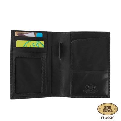 SOBDEALL-沙伯迪澳-植鞣牛皮護照夾-經典黑-咖啡