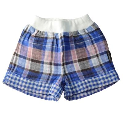 Anna Nicola-日本製-紗布格紋配色小短褲