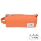 La Poche Secrete 率性韓風自在休閒帆布漾彩筆袋化妝包萬用包-粉橘色