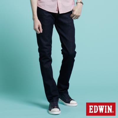 EDWIN-窄直筒503ZERO無接縫牛仔褲-中性-原藍色