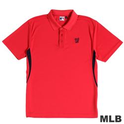 MLB-華盛頓國民隊開釦式電繡POLO衫-紅(男)