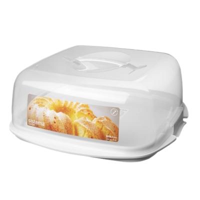 【Sistema】紐西蘭進口蛋糕收納扣式保鮮盒8.8L