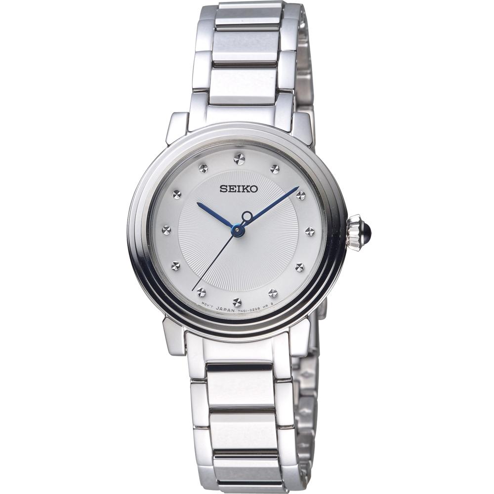 SEIKO 精工 優雅氣質時尚腕錶(SRZ479P1)白/30mm
