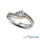 Just Diamond 真女人系列雙色金鑽石戒指-Jealous