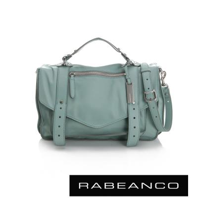 RABEANCO-Modern現代美學系列雙飾帶包-小-湖水綠