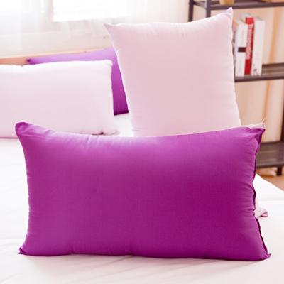 日本馬卡龍羽絲絨發熱枕2入~深紫+粉紫色