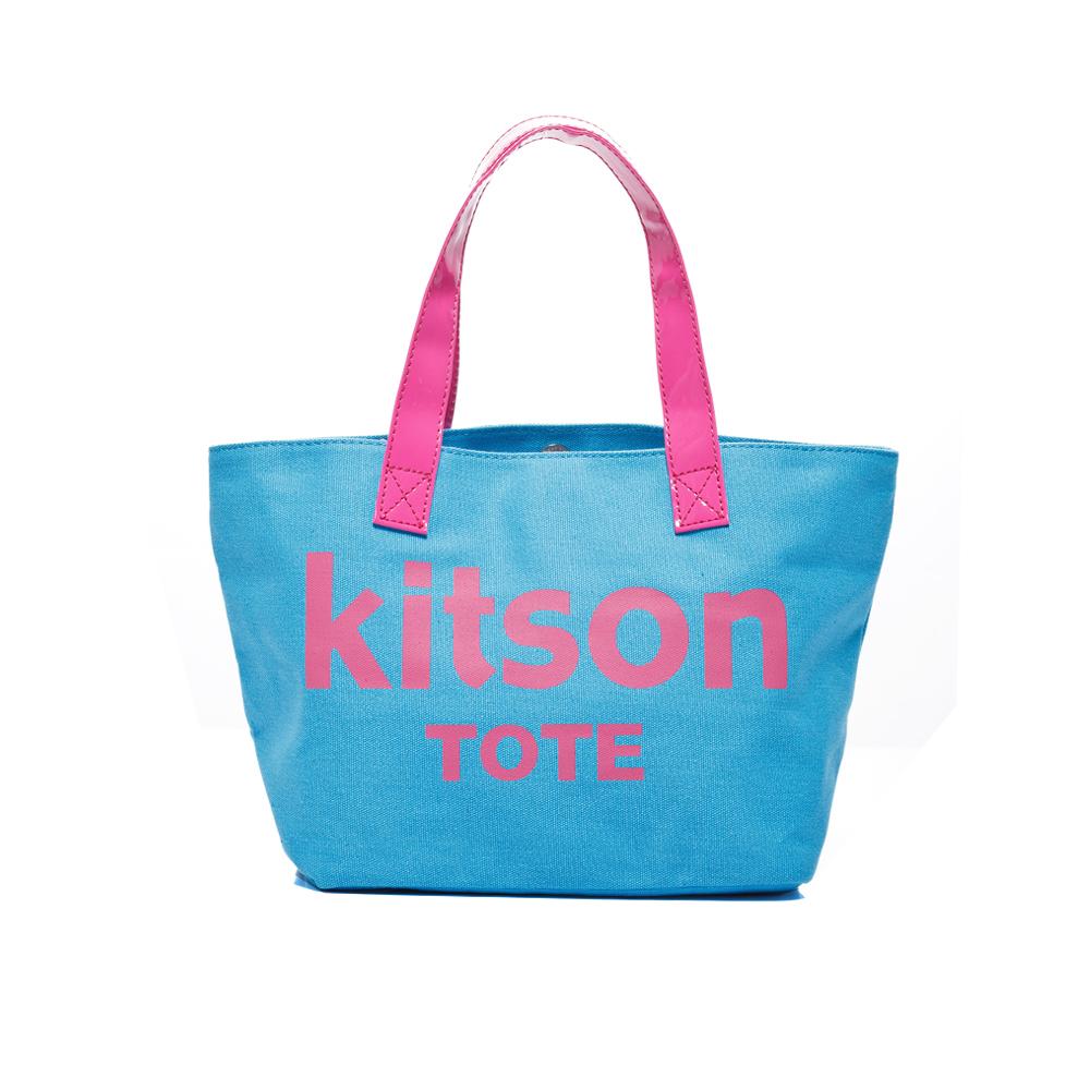 【kitson】美式學院風迷你托特包(BLUE)