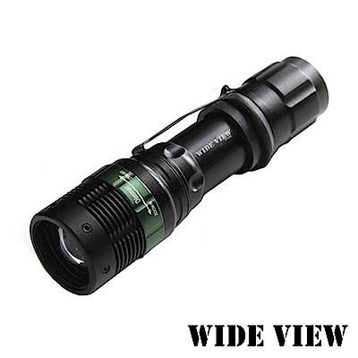 【WIDE VIEW】Q5 LED強光變焦手電筒(NZL-W109-T)