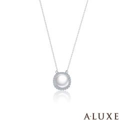 A-LUXE 亞立詩 寵愛系列BelovedI 18K鑽石AKOYA珍珠項鍊