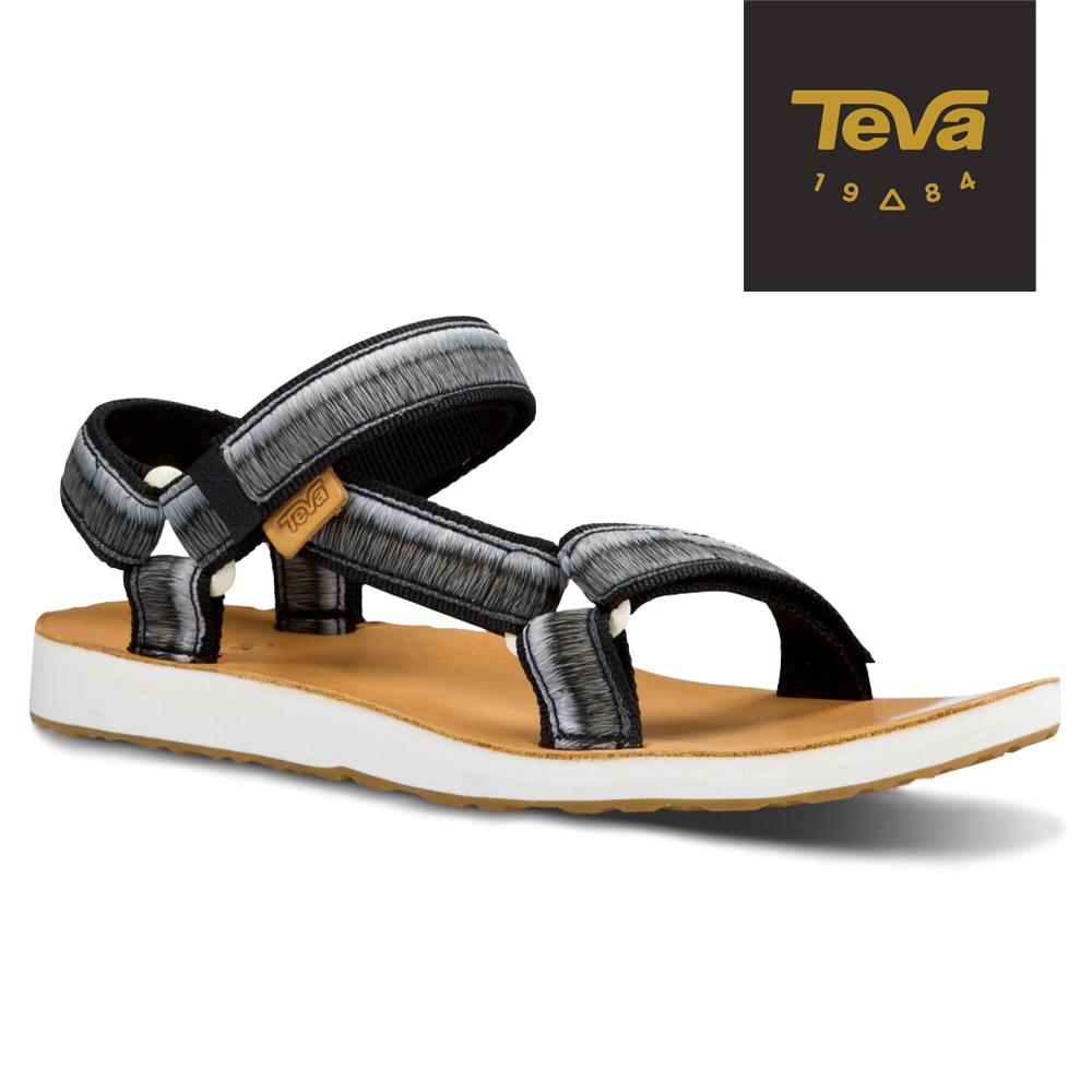 TEVA 美國-女 Original Universal 經典緹花涼鞋 (漸層黑)