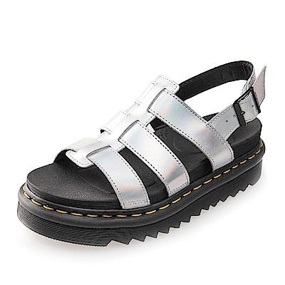 (女) Dr.Martens YELENA 扣環羅馬涼鞋*炫光銀