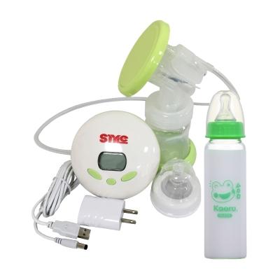 超靜音八段式液晶電動手動吸乳器ST288+哈皮蛙 標準口徑玻璃奶瓶240ml