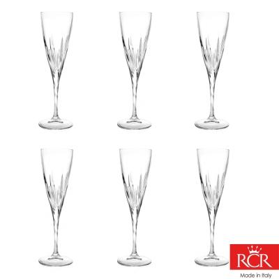 義大利RCR芙蓉蔓無鉛水晶香檳杯 (6入)190cc(8H)