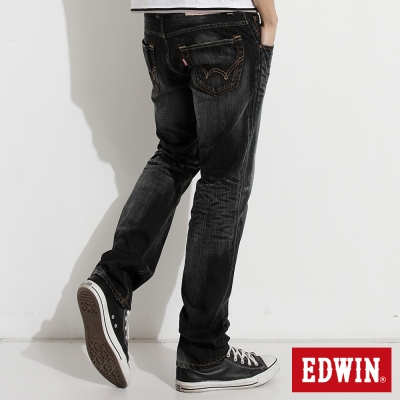 EDWIN-大尺碼NEW503重水洗五袋中直筒牛仔褲-男-灰色