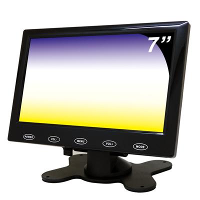 奇巧 7吋LED液晶螢幕顯示器(AV、VGA、HDMI)